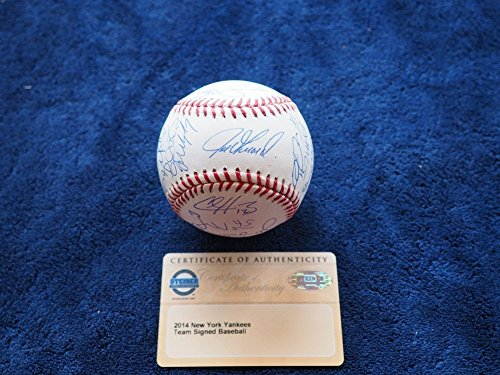 2014 New York Yankees Team Autographed Signed Baseball St...