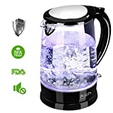 IKICH Glass Electric Kettle, BPA Free Water Boiler with 100% Stainless Steel Inner