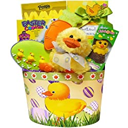 Art of Appreciation Gift Baskets Lucky Duck Easter Gift Basket with Chocolate and Candy Treats
