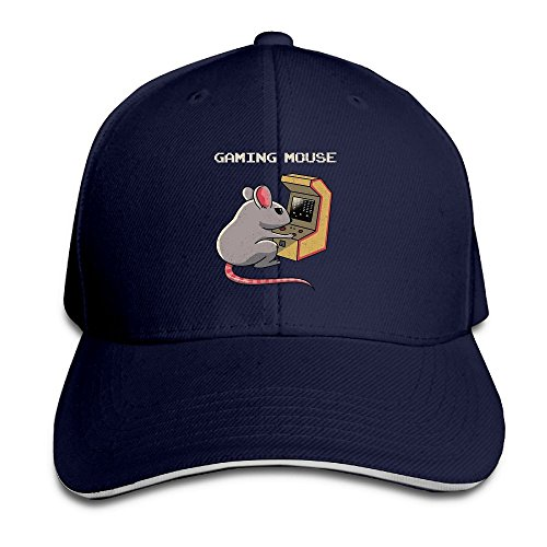 FOOOKL Gaming Mouse Cap Unisex Low Profile Cotton Hat Baseball Caps Navy