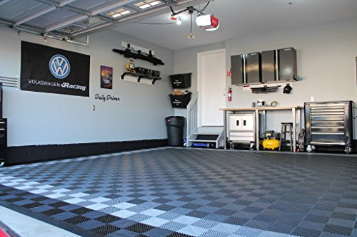 RaceDeck Free-Flow Open Rib Design, Durable Interlocking Modular Garage Flooring Tile (48 Pack), Graphite by RaceDeck (Image #6)