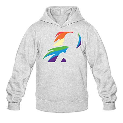 Make Witch Hunter Costume (Tommery Men's My little pony Hasbro Rainbow Dash Costume Logo Long Sleeve Sweatshirts Hoodie)