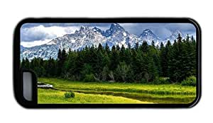 Hipster design iPhone 5C cover grand teton national park TPU Black for Apple iPhone 5C