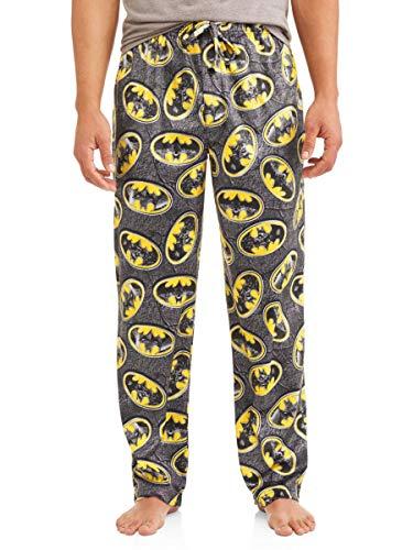 DC Comics Batman Men's Graphic Lounge Pants, (Medium, Black Multi)