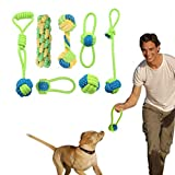 Dog Rope Toys Puppy Chew Toys Set of 7, Dog Cotton Rope Toys Nature Teething Toy for Dental Health, Stress-Free Dog Training Gifts