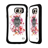 Official Monika Strigel Wolf Animals And Flowers Hybrid Case for Samsung Galaxy Note5 / Note 5