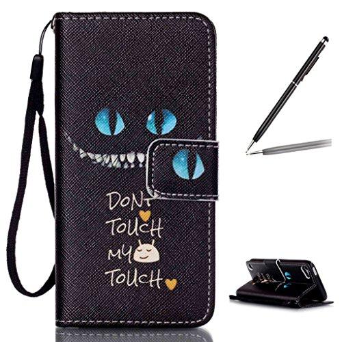 Trumpshop Smartphone Carcasa Funda Protección para Apple iPod Touch 5 (5th Gen) / iPod Touch 6 (6th Gen) + Hadas + PU Cuero Caja Protector con Choque Absorción Dont Touch My Phone (Insinuar)