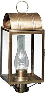 product image for Brass Traditions 160 DAAB Large Tall Post Lantern 100 Series, Antique Brass Finish 100 Series Tall Post Lantern