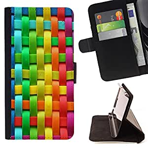 - Rainbow - - Style PU Leather Case Wallet Flip Stand Flap Closure Cover FOR Samsung ALPHA G850 - Devil Case -