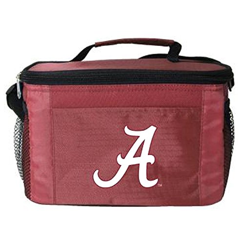 - Kooler Bag - 6 Pack Cooler - Insulated Lunch Bag with Zipper Closure - NCAA - Alabama Crimson Tide
