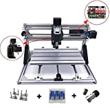 [Upgrade Version] DIY CNC Router Kits 3018 GRBL Control Wood Carving Milling Engraving Machine (Working Area 30x18x4.5cm, 3 Axis, 110V-240V)