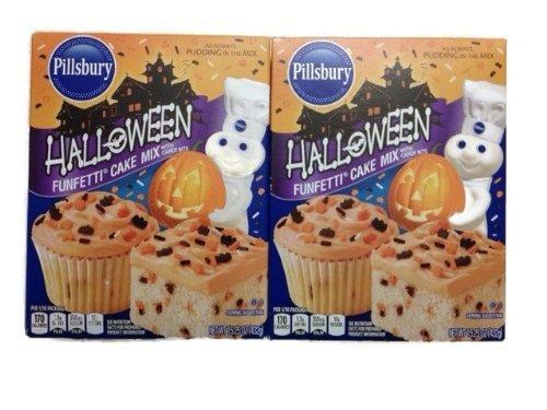 Pillsbury Halloween Funfetti Cake Mix 15.25 Oz. [Pack of 2] ()