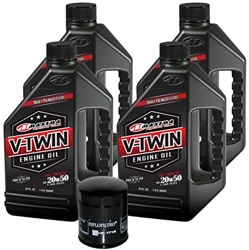(MaximaHiflofiltro VTEOCK12 Full Synthetic Engine Oil Change Kit for Harley Davidson Twin Cam V-Twin)