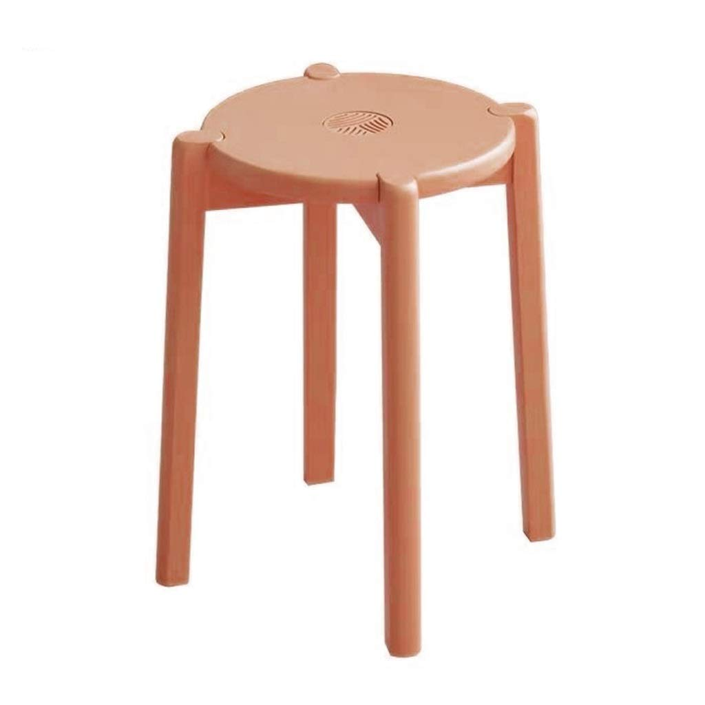 LGQ-JJU Stackable Round Stools Dining Stool Solid Wood Bentwood Chair,Dining Stool Seating Kitchen Living Room Breakfast Bar Stackable Furniture (Color : D)