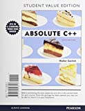 Absolute C++, Student Value Edition Plus MyProgrammingLab with Pearson EText -- Access Card Package, Savitch, Walter and Mock, Kenrick, 0132989948