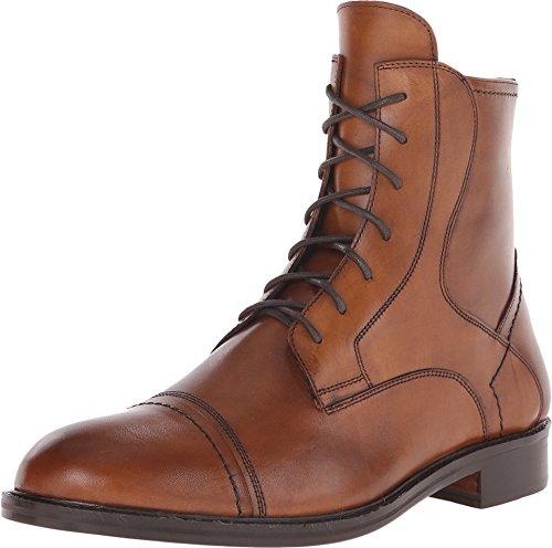 Cap Toe 10 Eye Boot (Massimo Matteo Men's 7-Eye Cap Toe Boot Brandy Boot)