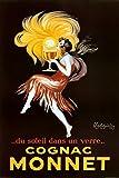 Leonetto Cappiello Cognac Monnet Vintage Ad Art Print Poster - 24x36 Poster Print, 24x36