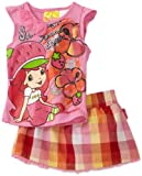 Strawberry Shortcake Girls  Plaid Skooter Set
