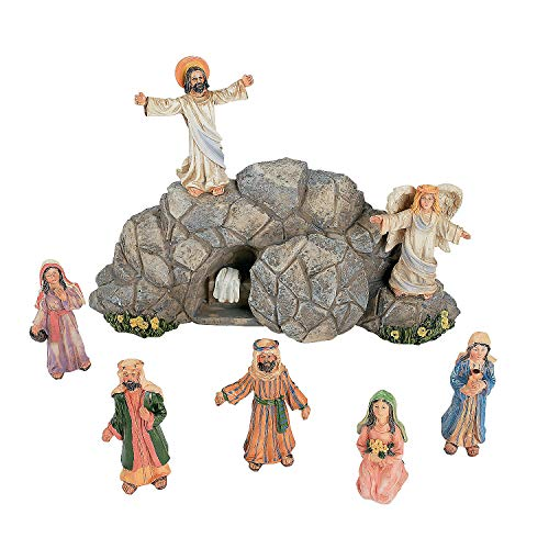 Fun Express Easter Resurrection Set (Resin) 8 Pieces Included Plus Story Card