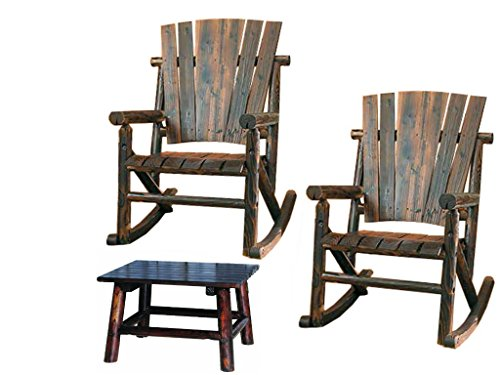 Leigh Country Char-Log Rocker Chair Combo (Rocker Chair(2) + End Table)