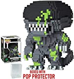 Funko 8-Bit Pop! Horror: Alien - Xenomorph (Blood Splattered Version) Vinyl Figure (Bundled with Pop Box Protector Case)