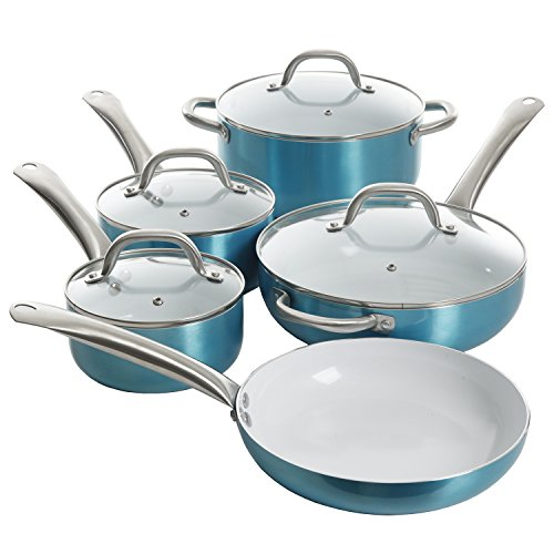 Oster 109445.09 Aluminum Cookware Set, Turquoise