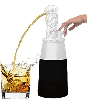 barraid Singapur León blanco forma redonda con negro tarro dispensador de licor 500 ml de capacidad: Amazon.es: Hogar