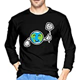 Funny Cute Earth And Moon Like A Balloon In Hand T-shirt Men