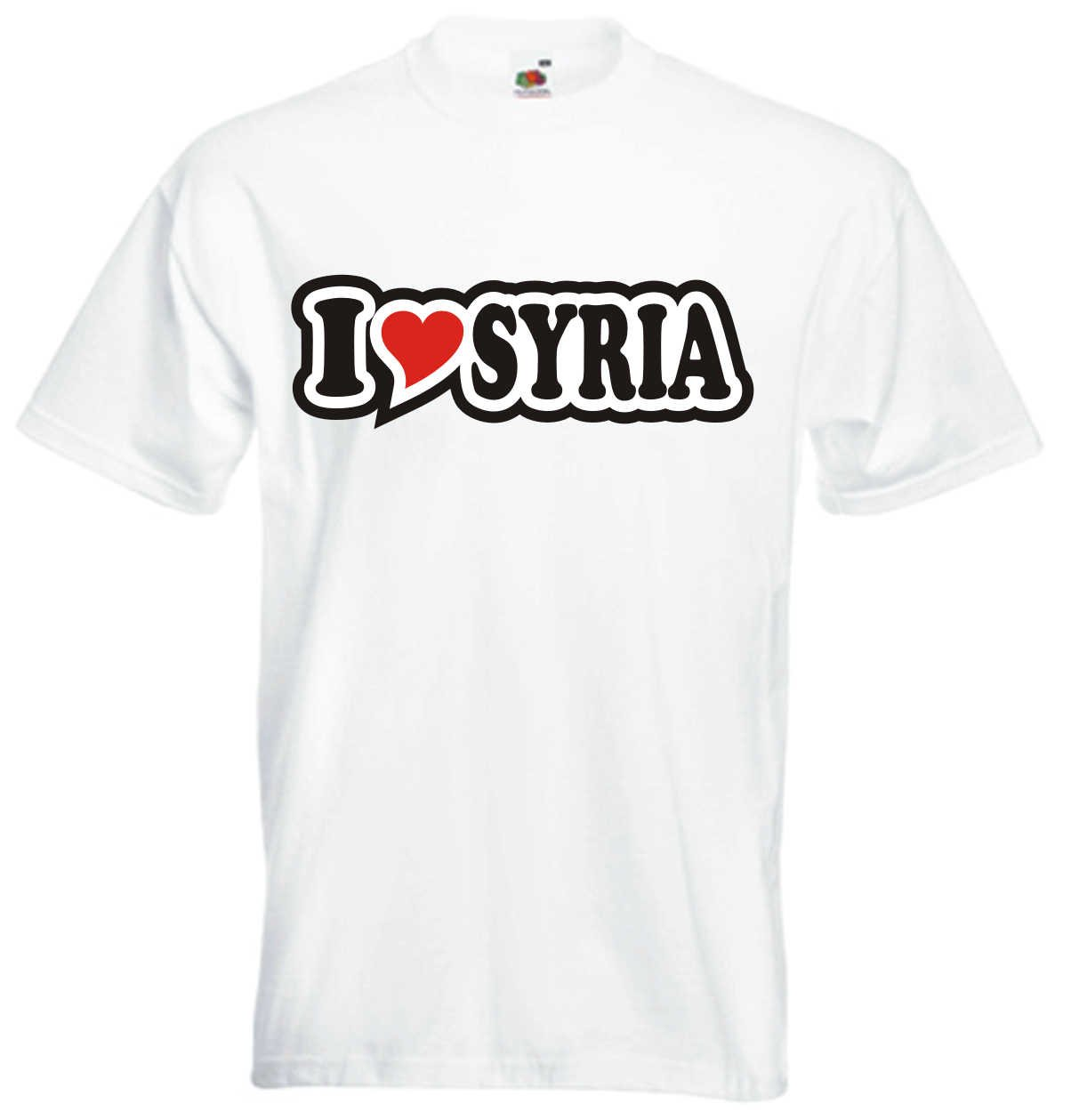 I Love Heart T-Shirt Men I LOVE SYRIA Black Dragon