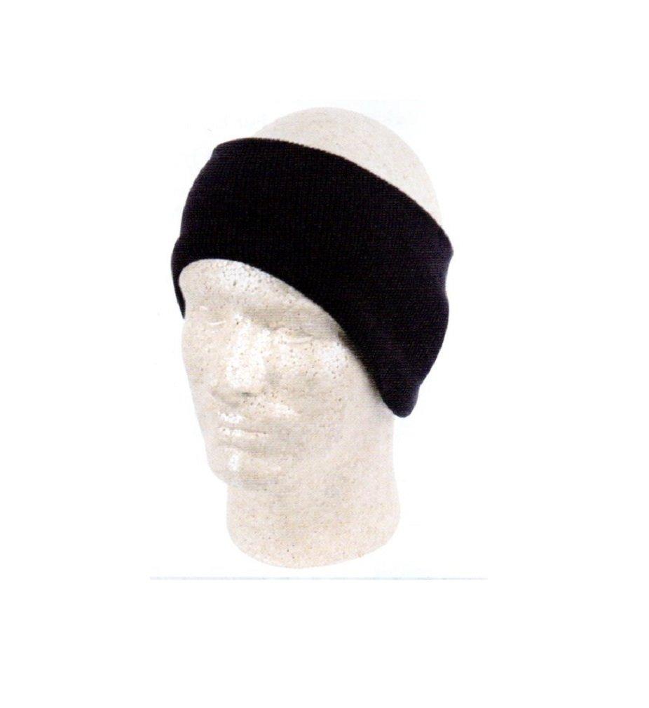 Black Knit One Piece Headband Earmuffs Winter Head Ear Band Snow Snowboard XO