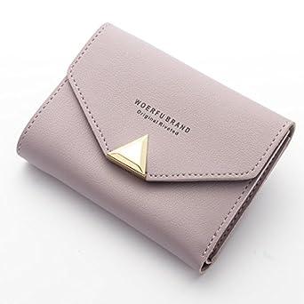 Amazon.com: MS. baellerry corto portafolios color sólido ...