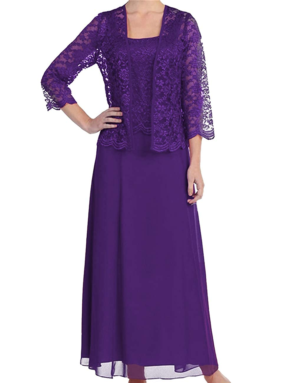 H.S.D Womens Lace Mother of The Bride Dress Formal Gowns with Jacket