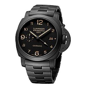 Panerai Men's Swiss Quartz Stainless Steel Casual Watch, Color:Black (Model: PAM00438)