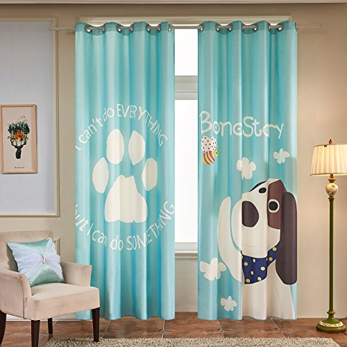 Fassbel 2 Panel Set Digital Printed Cartoon Picture Window Curtains for Bedroom Living Room Children Room or Nursery Window Drapes (W54