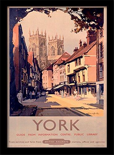 42 x 32 x 2.4 cm 1 MDF Multi-Colour National Railway Museum York Framed 30 x 40cm Print
