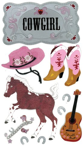 Jolee'S Boutique Dimensional Stickers-Cowgirl ()
