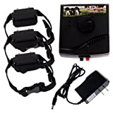 New Waterproof Underground Electric Shock Dog Collar Fence System for 3 Dog