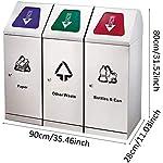 Contenedor-de-Reciclaje-al-Aire-Libre-Acero-Inoxidable-3-Clasificacion-Bote-de-Basura-Combinacion-de-Compras-al-Aire-Libre-Cubos-de-Basura-Reciclaje-Contenedores-de-compostaje-Contenedores-d