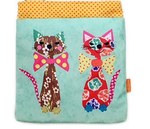 CATS mujer giftsbynet al Bolso TIES poliéster hombro para BOW IN de rxwq0wfSR