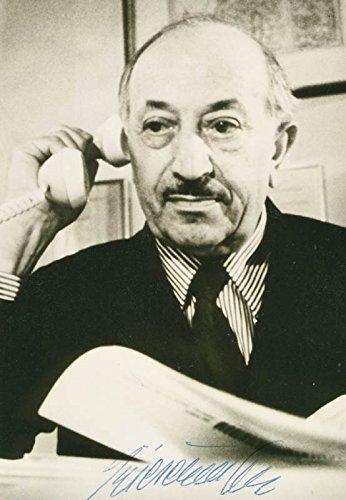 Simon Wiesenthal - Photograph Signed - Simon Signed