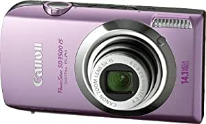 Canon PowerShot SD3500IS 14.1 MP Digital Camera with 3.5-Inch Touch Panel LCD and 5x Ultra Wide Angle Optical Image Stabilized Zoom (Pink)