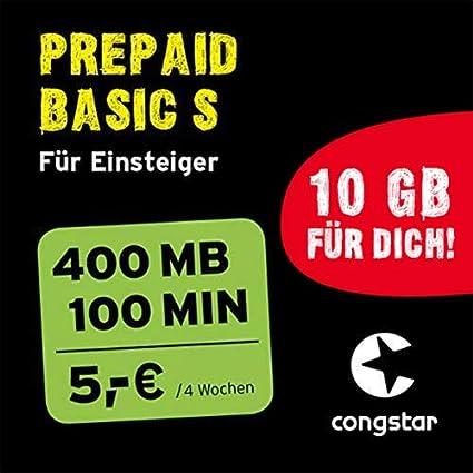 Congstar Sim Karte Aktivieren.Congstar Prepaid Basic S Paket Sim Micro Sim Und Nano Sim Das Prepaid Paket Für Einsteiger In Bester D Netz Qualität