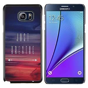 Dragon Case - FOR Samsung Note 5 N9200 N920 - just breathe inspirational sunset purple - Caja protectora de pl??stico duro de la cubierta Dise?¡Ào Slim Fit