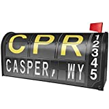 NEONBLOND CPR Airport Code for Casper, WY Magnetic Mailbox Cover Custom Numbers