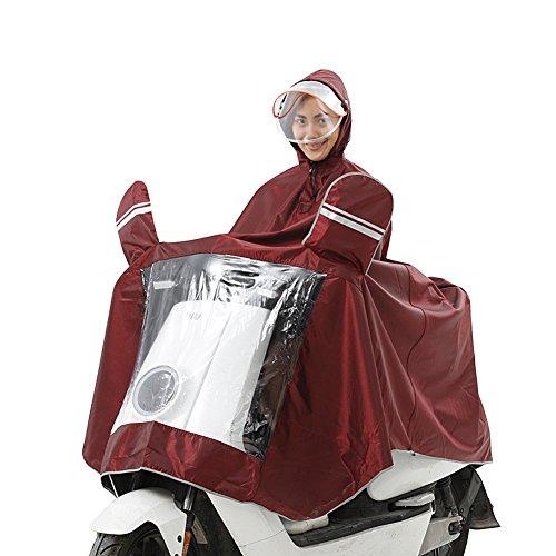 et double C étanche adulte hommes pluie augmenter pour pour Masque femmes la électrique poncho Wupo Raincoat Moto axzwpp