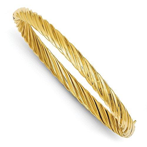 14carats 5,5mm extra large motif tourbillon à charnière bracelet jonc-16