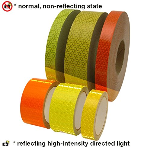 Oralite (Reflexite) V98 Microprismatic Retroreflective Conspicuity Tape: 1 in. x 50 yds. (Fluorescent Lime Yellow)