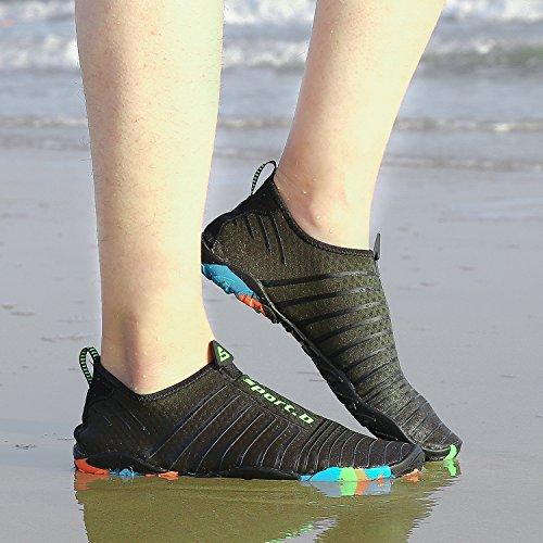 Surf Snorkel Cycling Calzado Hombre Escarpines Agua Mar Acuáticos verde Aqua Deportes Nuevo Para Vela De Buceo Río Playa Piscina Mujer Zapatos Natación qwXZI7x