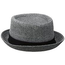 Ben Sherman mens Linen Stripe Pork Pie Hat