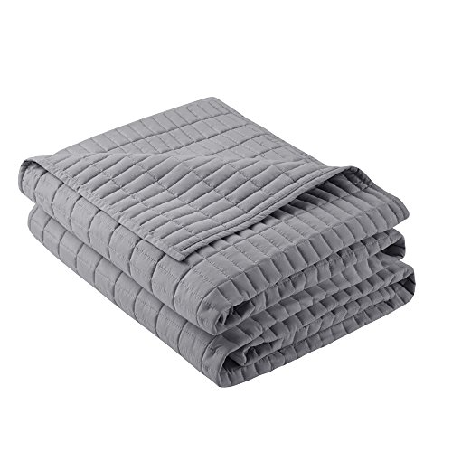 Comfort Spaces - Kienna Quilt Mini Set - 3 Piece - Gray - Stitched Quilt Pattern - Full/Queen Size, Includes 1 Quilt, 2 Shams by Comfort Spaces (Image #3)